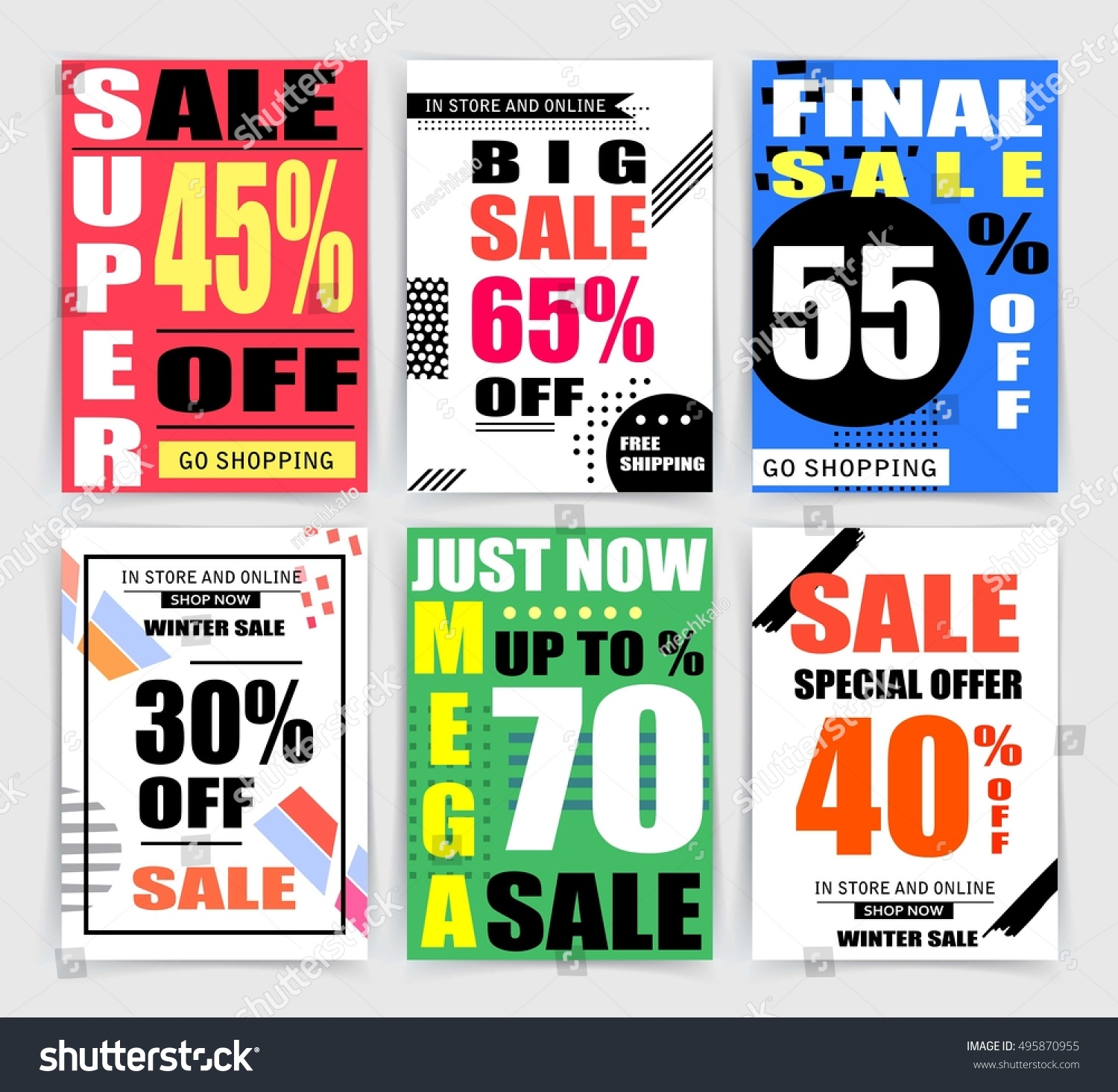 Sale Banner Templates Website And Mobile Website Banners Posters