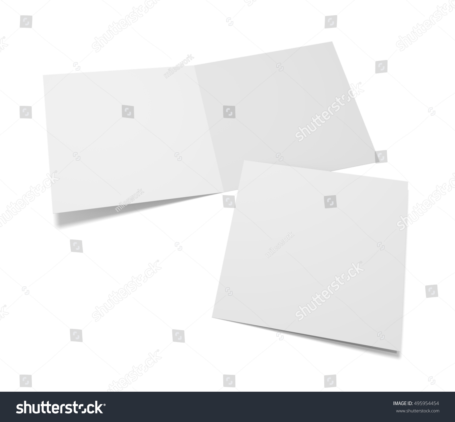 Empty 3 D Illustration Greeting Cards Cover Stock Illustration