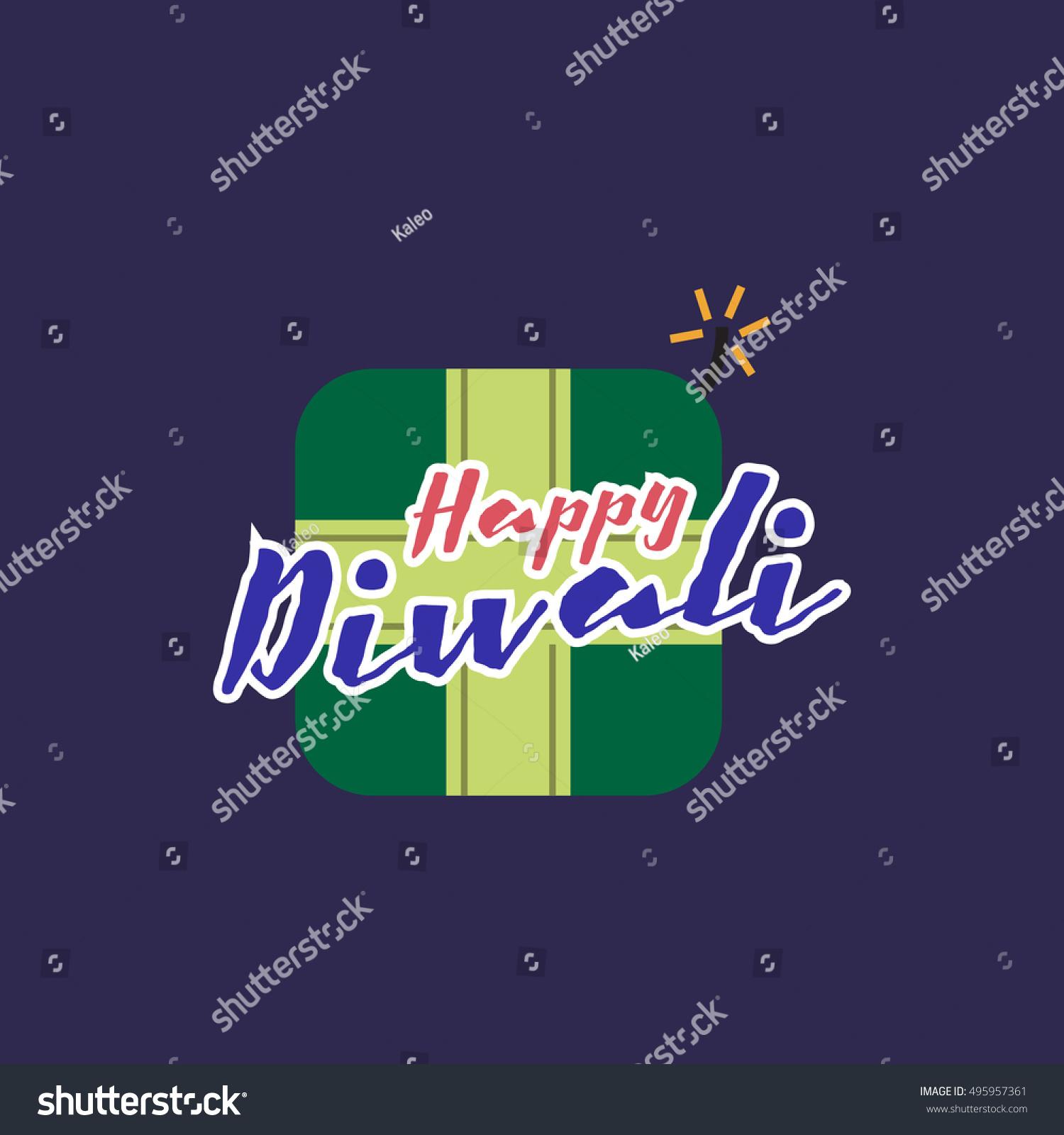 Crackers Diwali Greetings Happy Diwali Concept Stock Vector Royalty