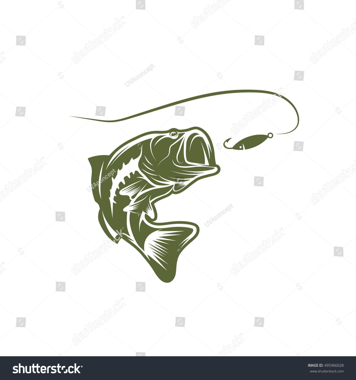 largemouth bass template - photo #17