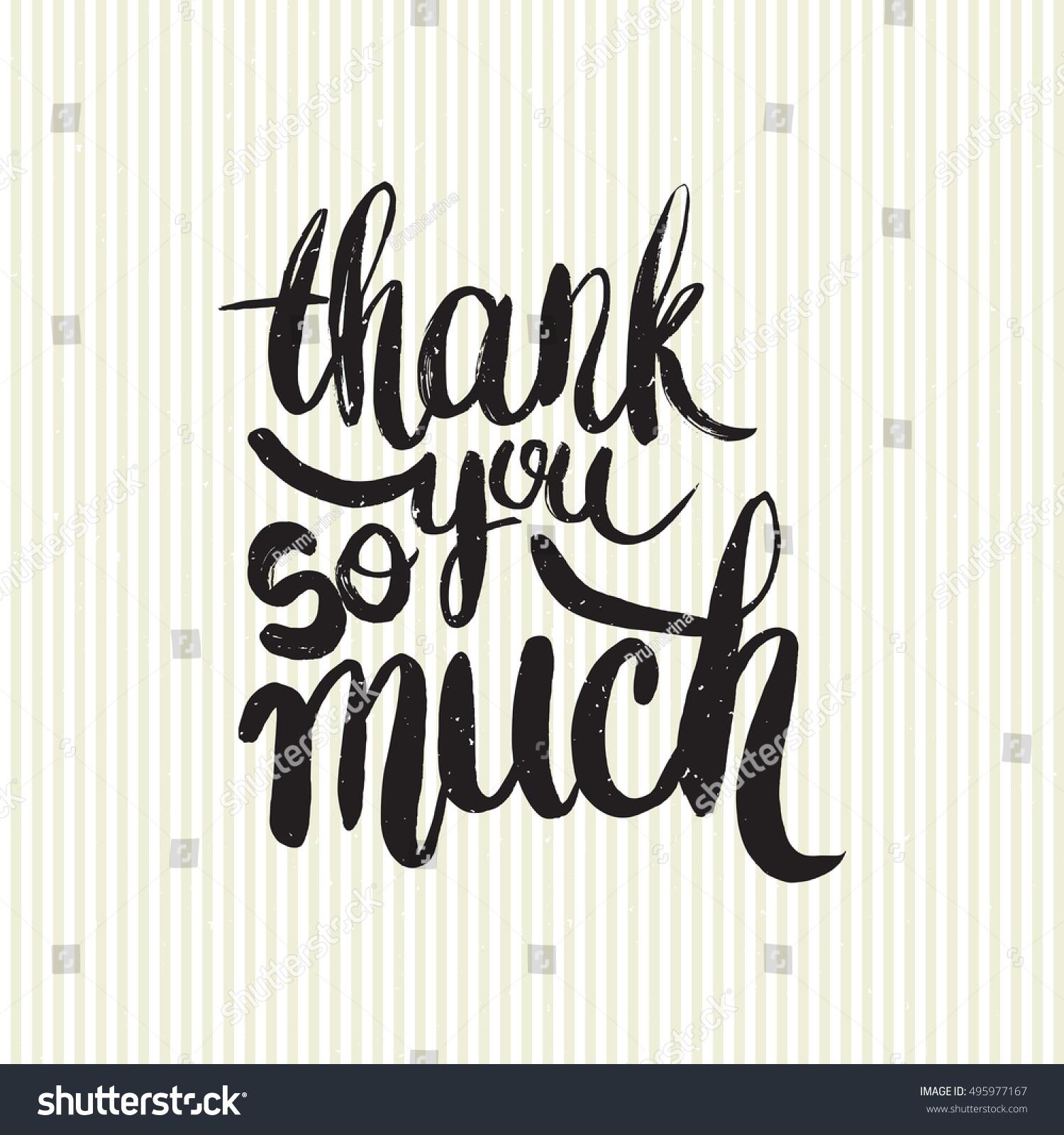 hand drawn phrase thank you much のベクター画像素材 ロイヤリティ