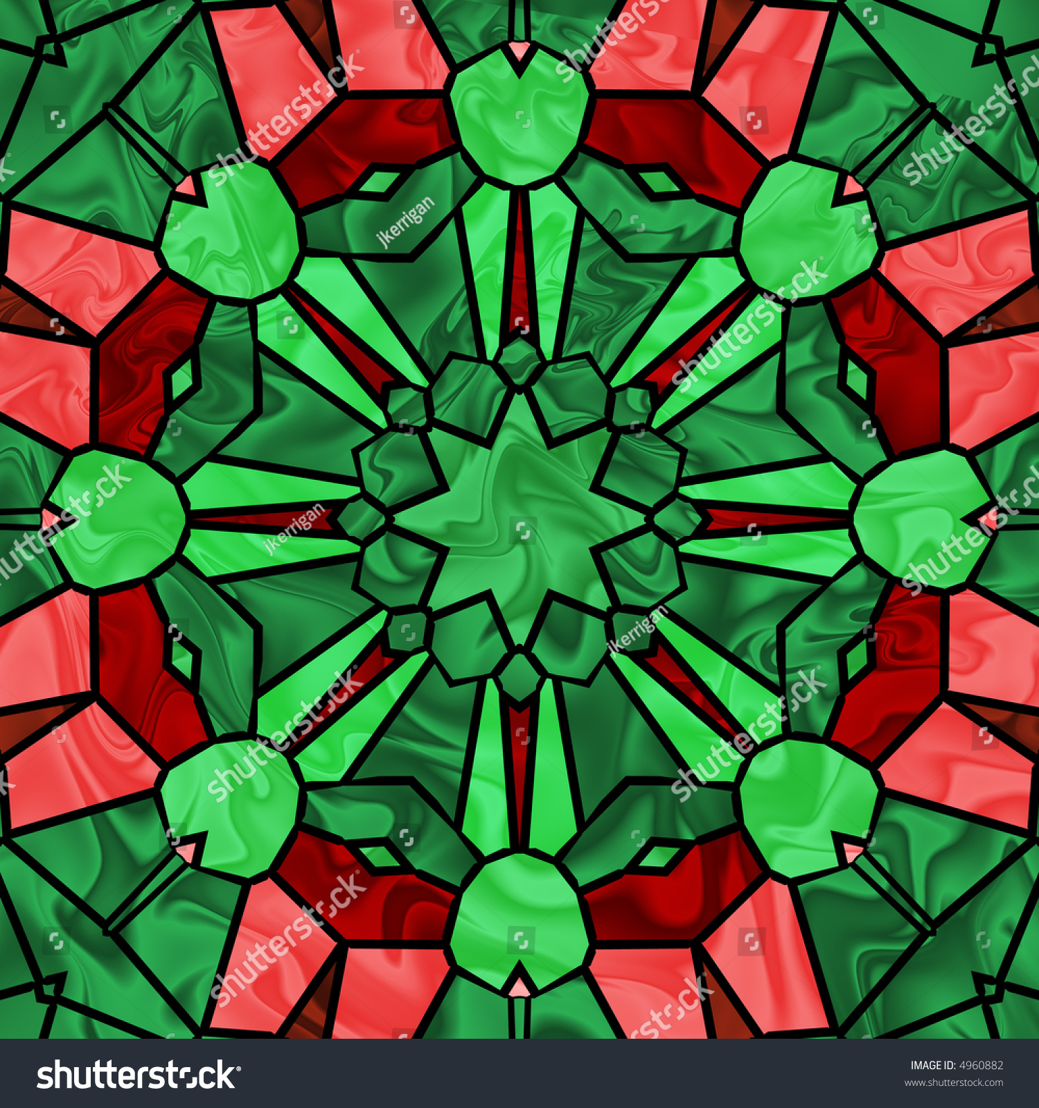 stained glass image pretty christmas colors stock illustration