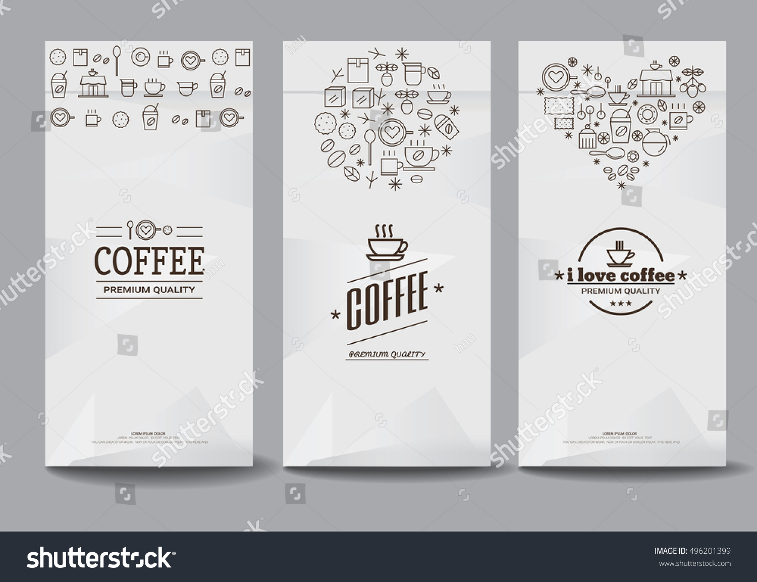 Paper Package Design Mock Templatecafe Restaurant Stock Vector ...