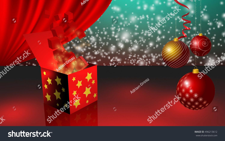 Three Gift Boxes Opening Around Christmas Stock Illustration ...