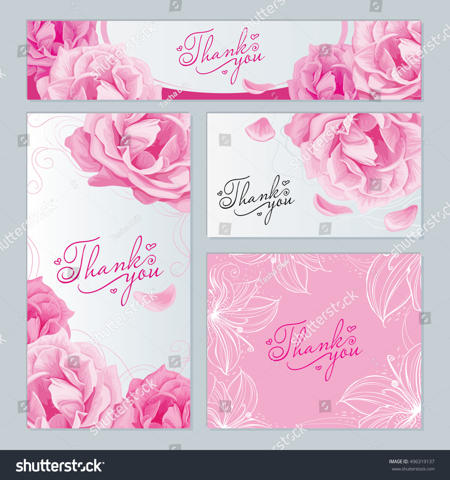 Business Cards Labels Different Sizes Pattern Stock Vector 496319137 ...