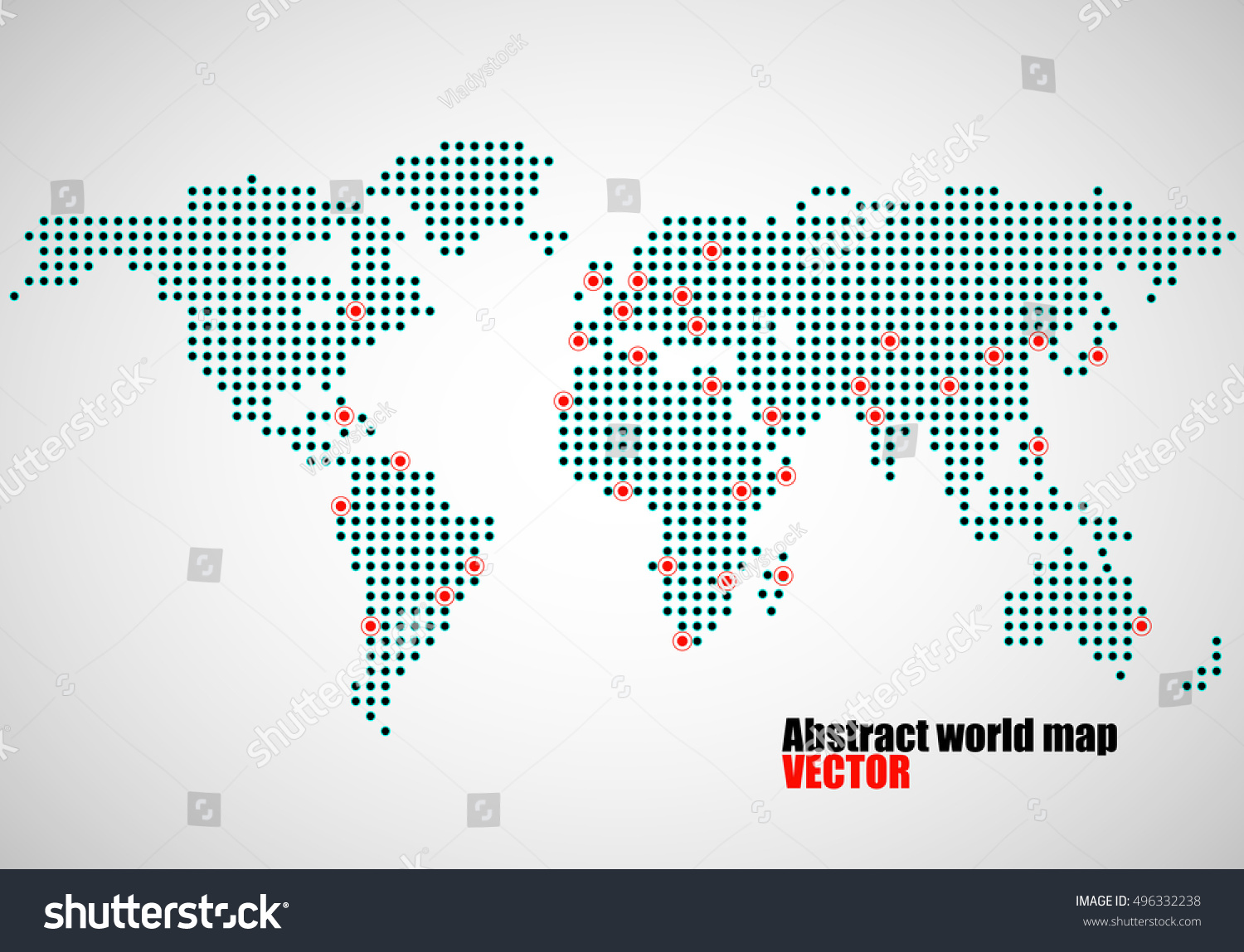 Abstract world map dots capitals countries stock photo photo abstract world map of dots capitals countries vector illustration eps 10 publicscrutiny Gallery