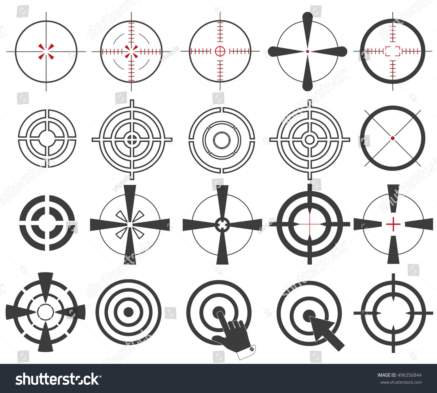 The big icon collection sight target stock vector 496356844 the big icon collection sight target symbol sniper scope isolation on a white background stylish buycottarizona Image collections