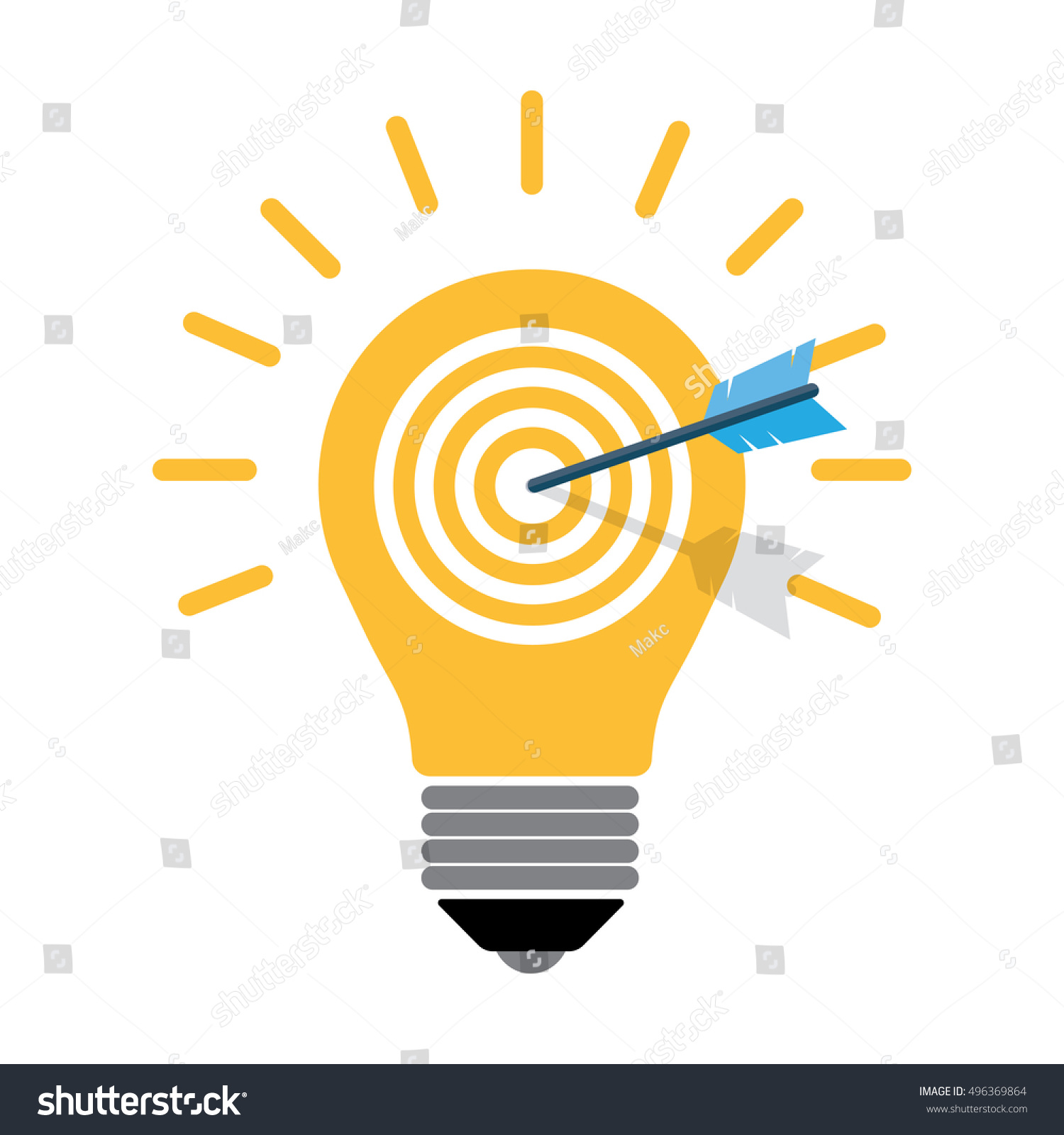 Concept idea light bulb arrow icon stock vector 496369864 shutterstock concept of idea light bulb and arrow icon vector illustration buycottarizona Choice Image