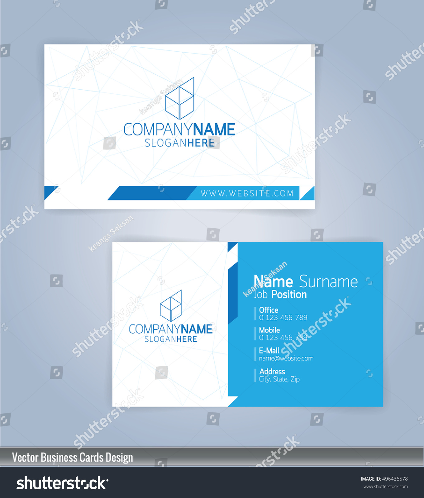 Modern Creative Clean Business Card Design Stock Vector