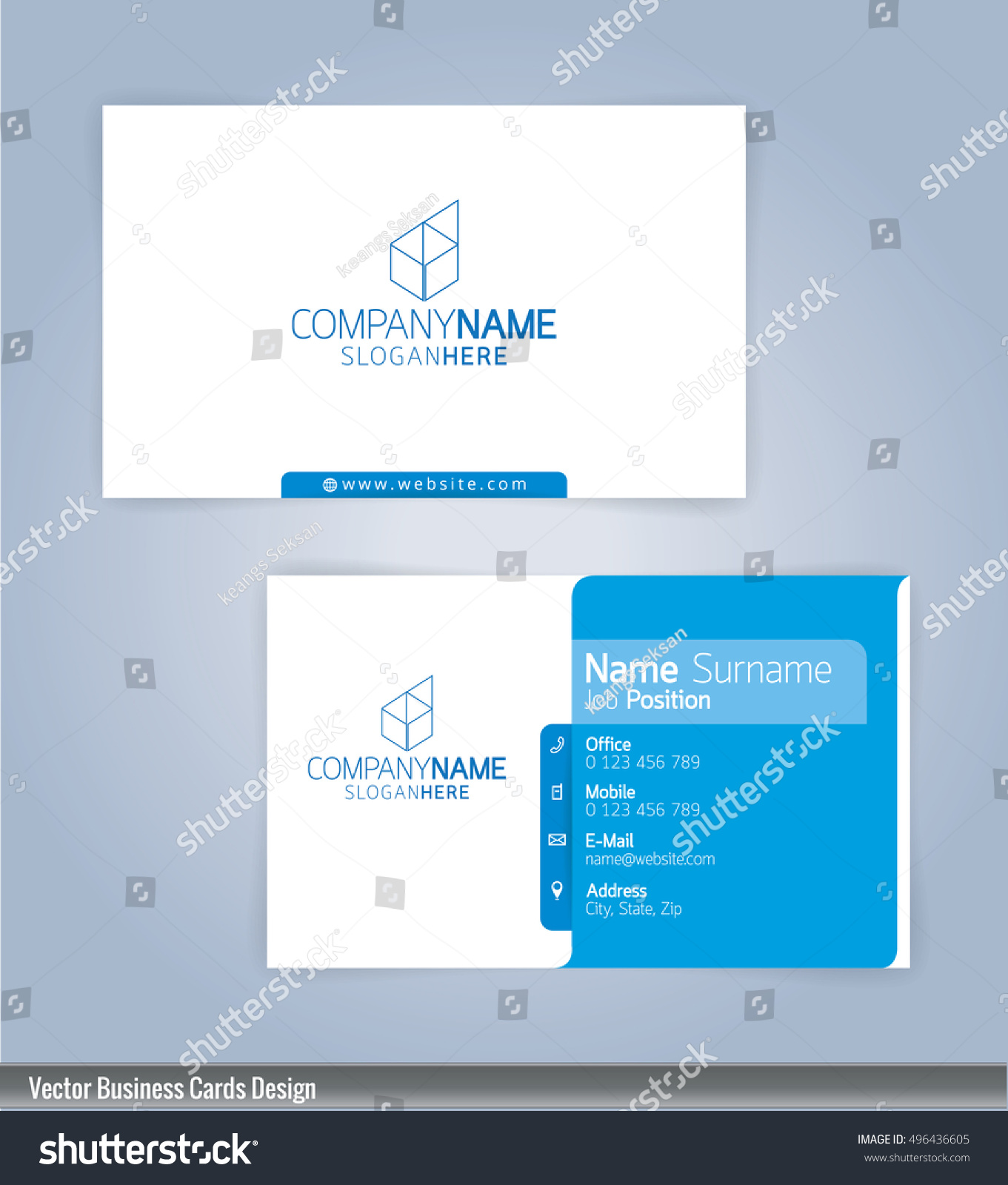 Modern Creative Clean Business Card Design Stock Vector - Business card design template