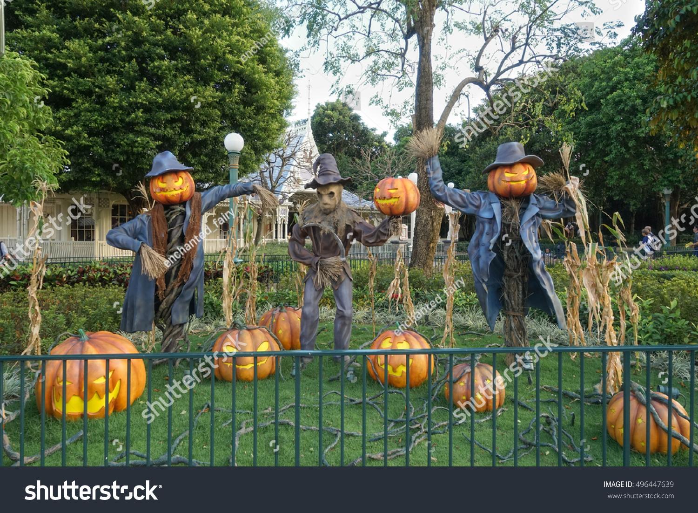 Scarecrow Halloween Pumpkin Head Jack O Stock Photo Edit Now