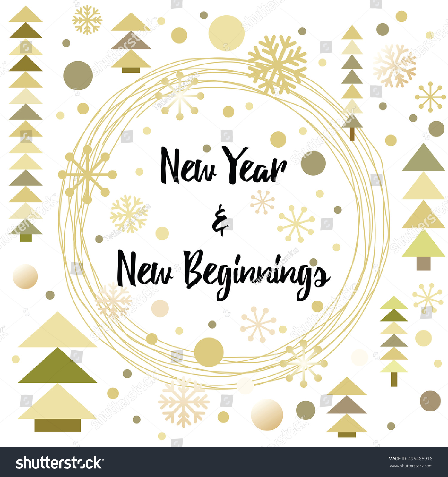 Happy New Year Greeting Card Design Stock Vector Royalty Free
