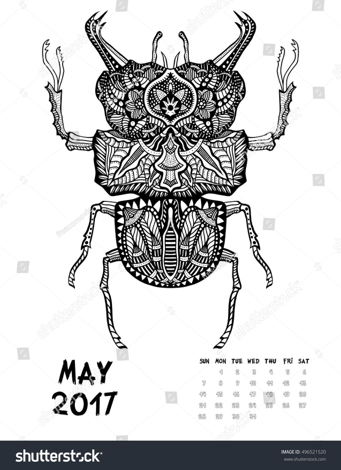May Coloring Calendar 2017ColoringPrintable Coloring Pages Free