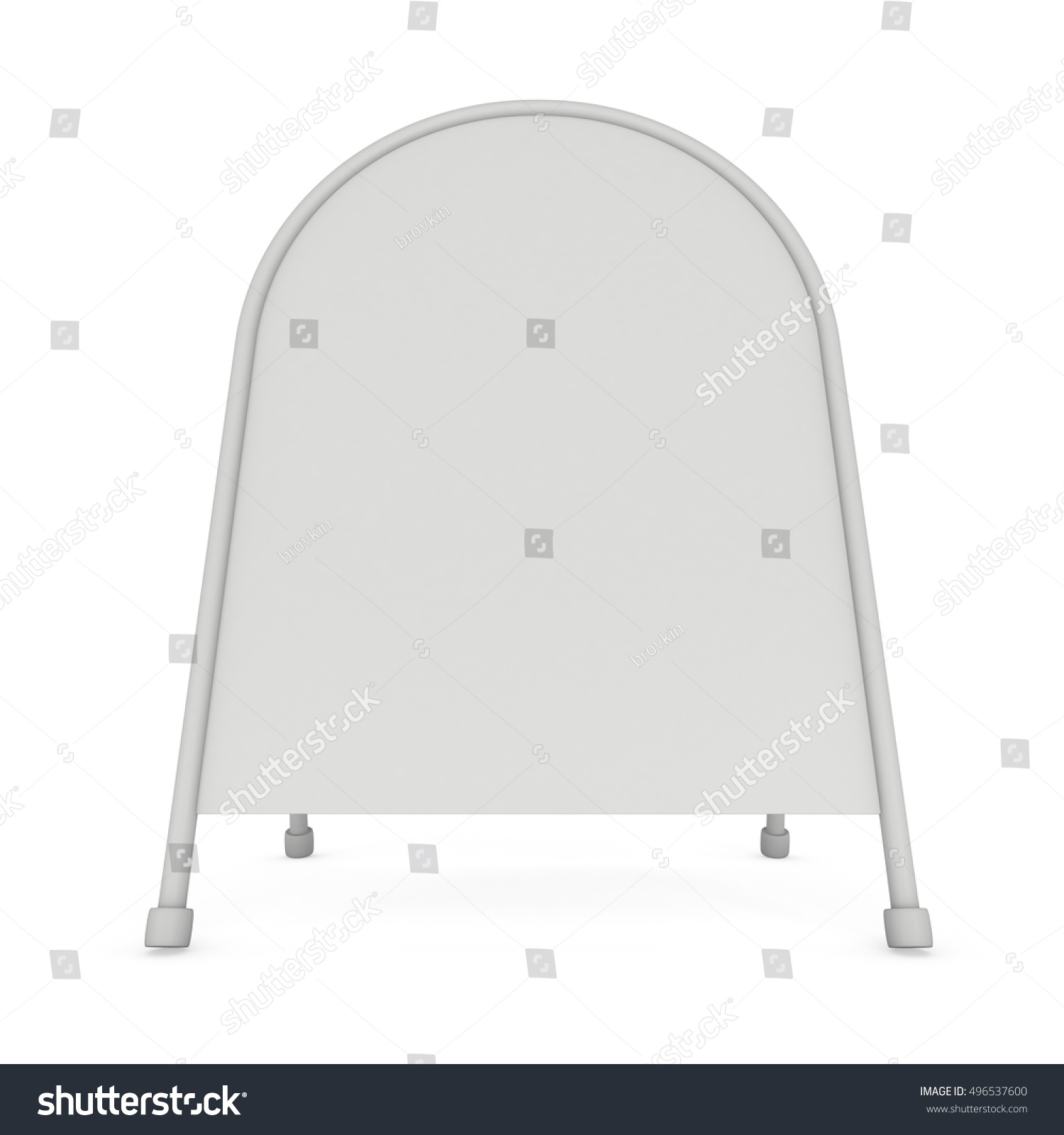 Sandwich board. Blank menu outdoor display with clipping path. Trade ...