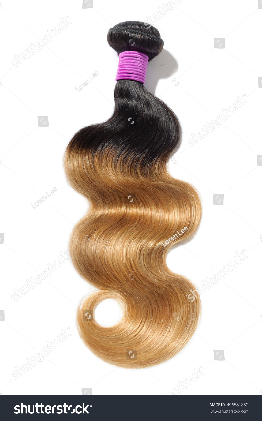 Beautiful Body Wave Ombre Two Tone Stock Photo Royalty Free