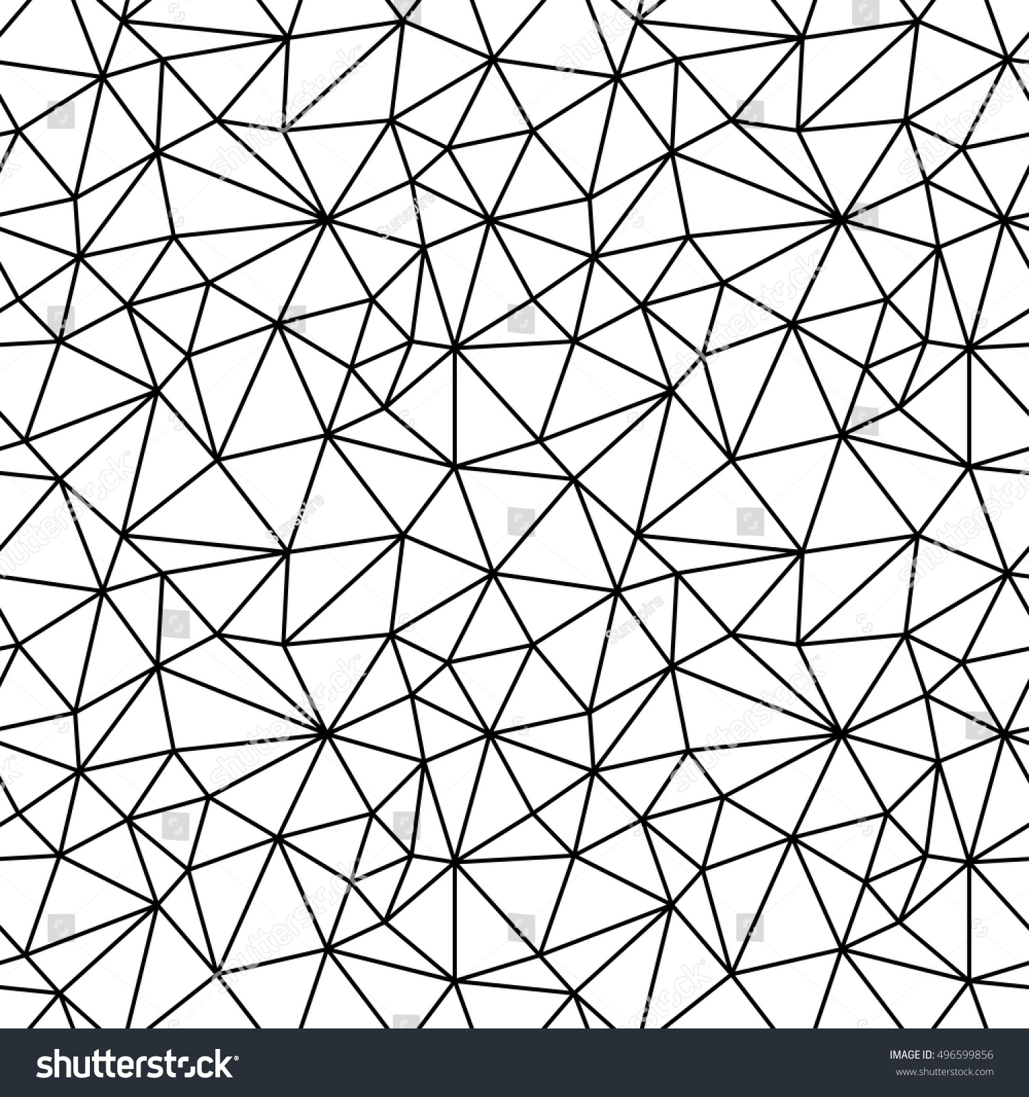 Abstract Geometric Black And White Hipster Fashion Polygon Background Pattern