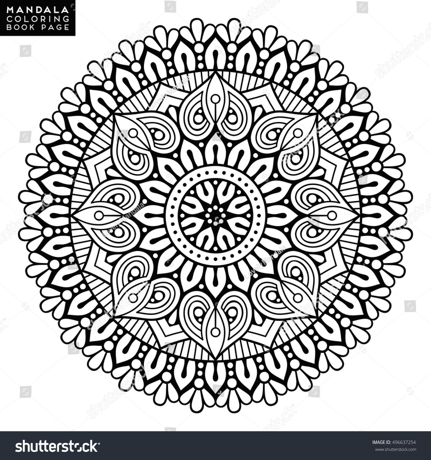 Flower Mandala Vintage Decorative Elements Oriental Stock Vector 496637254