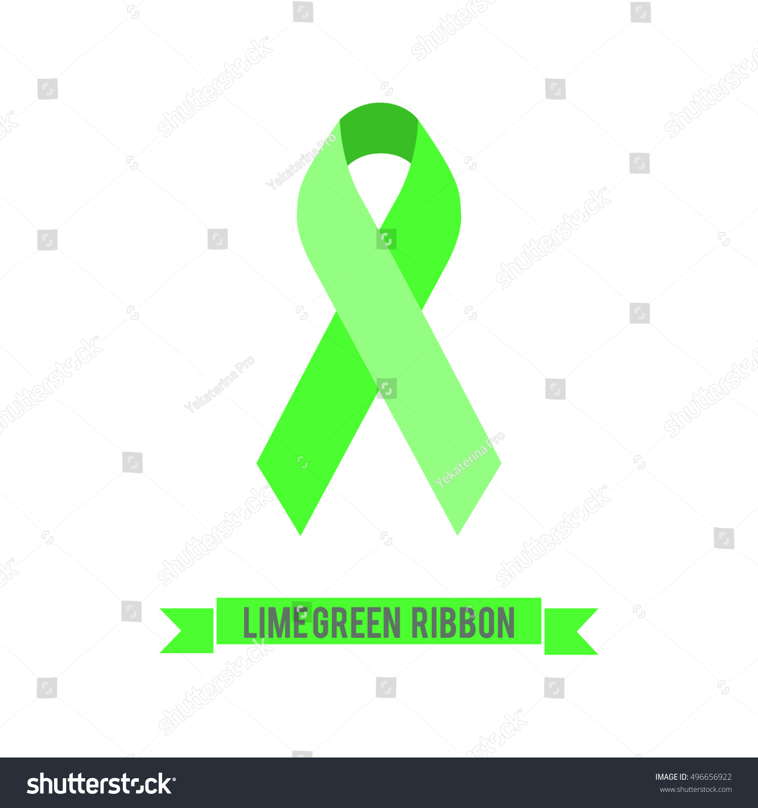 Lime Green Ribbon Symbol Achalasia Awareness Stock Vector Royalty