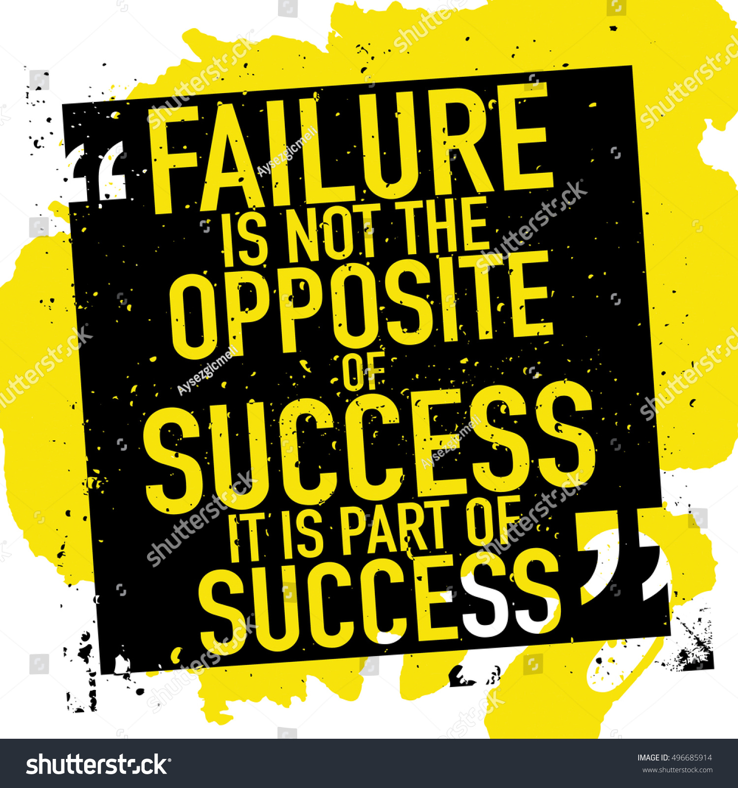 Inspirational Quotes About Failure: Success Concept Quote Poster Design Failure Stock Vector