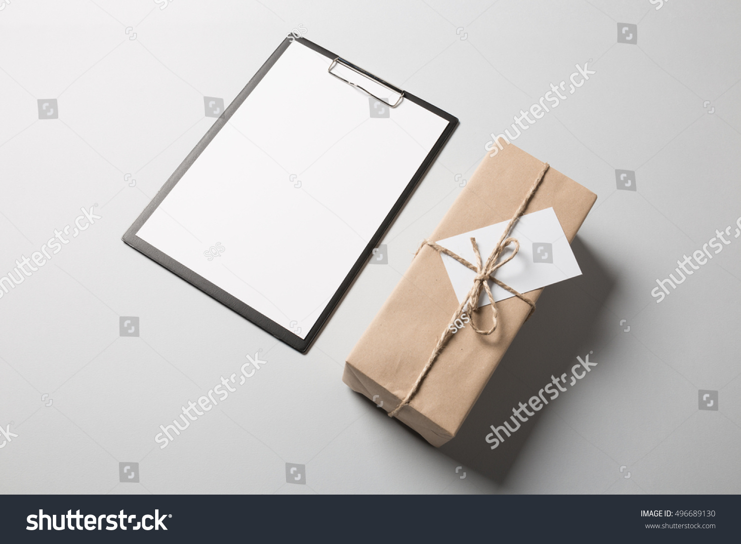 Clipboard Blank Paper Package Greeting Card Stock Photo Edit Now