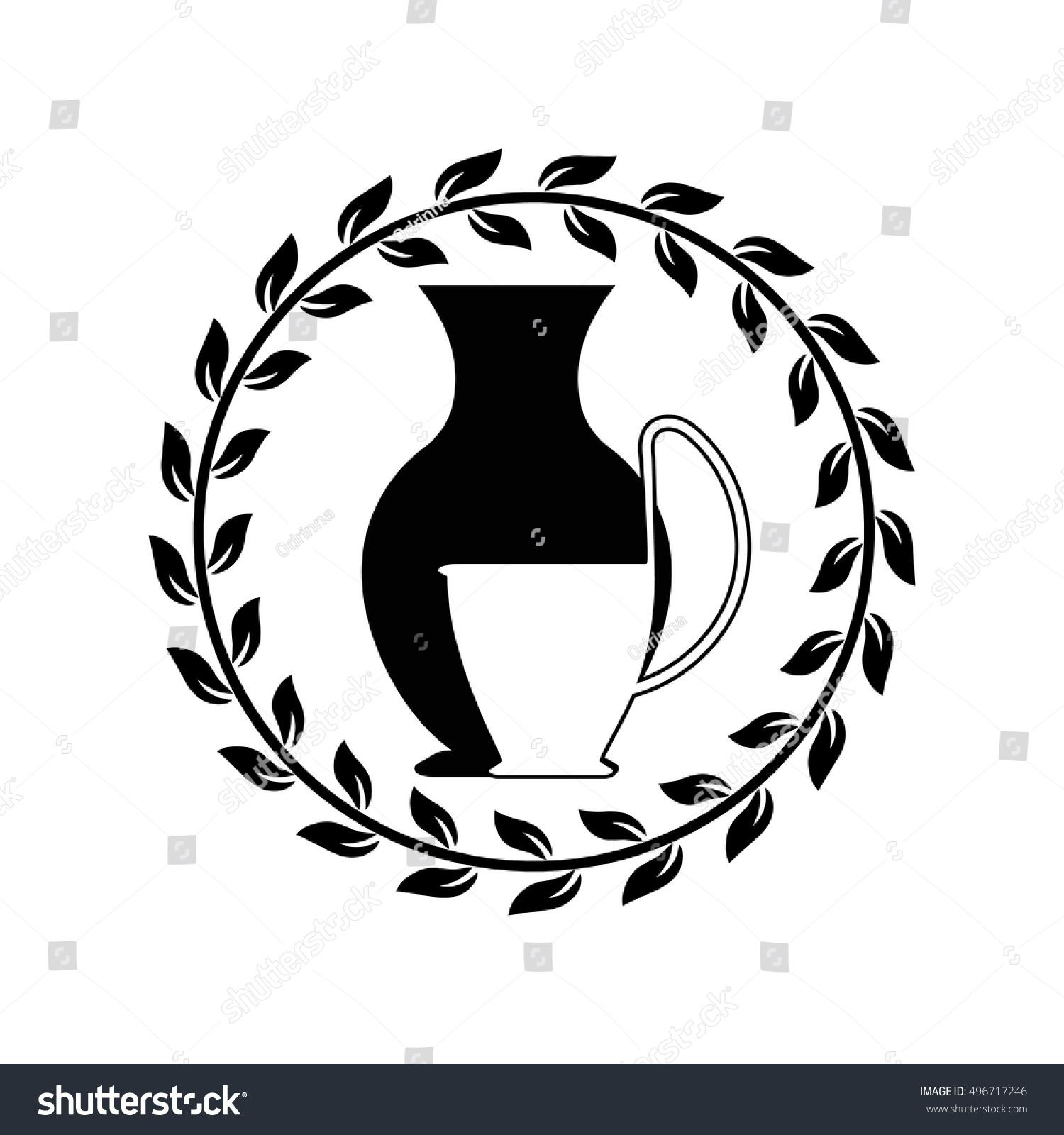 Vector Ancient Greek Vases Icon Amphora Stock Vector Royalty Free