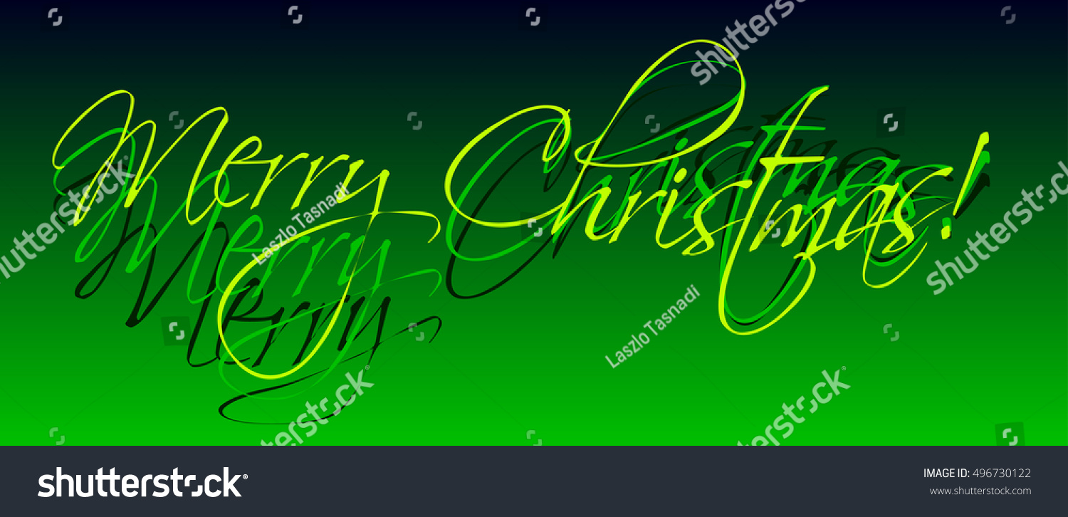 Holiday Greetings Text Digital Calligraphy Stock Photo