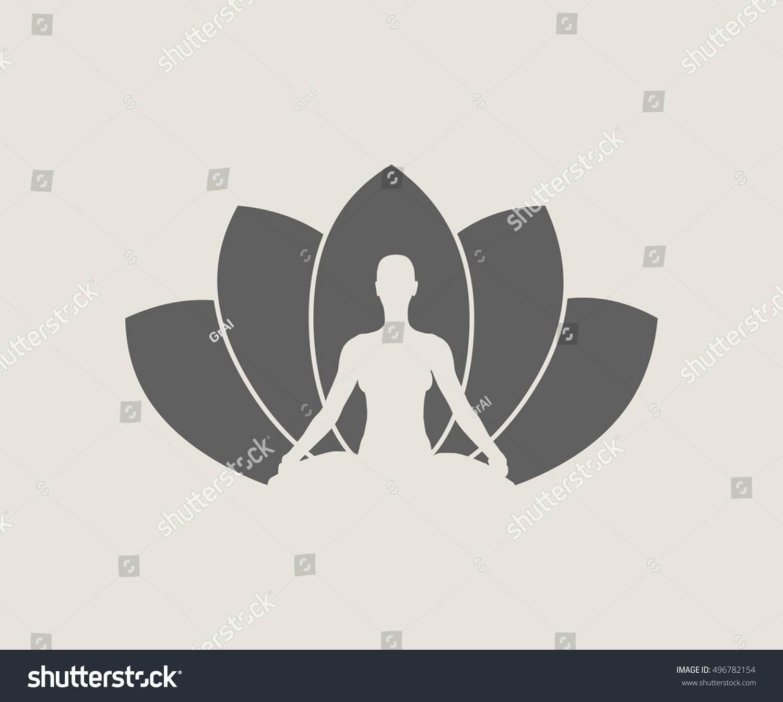 Woman Sit Meditation Pose Bodybuilder Relaxing Stock Vector