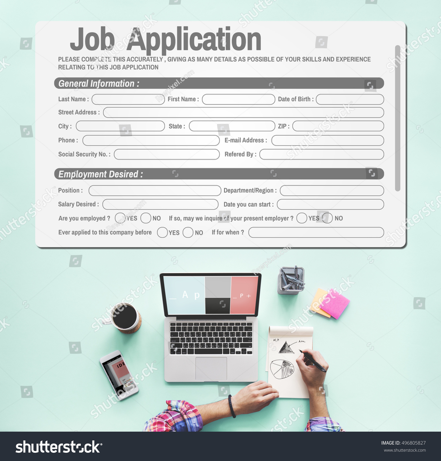 Online Web Job Application Form Concept Stock Photo (Edit Now ...
