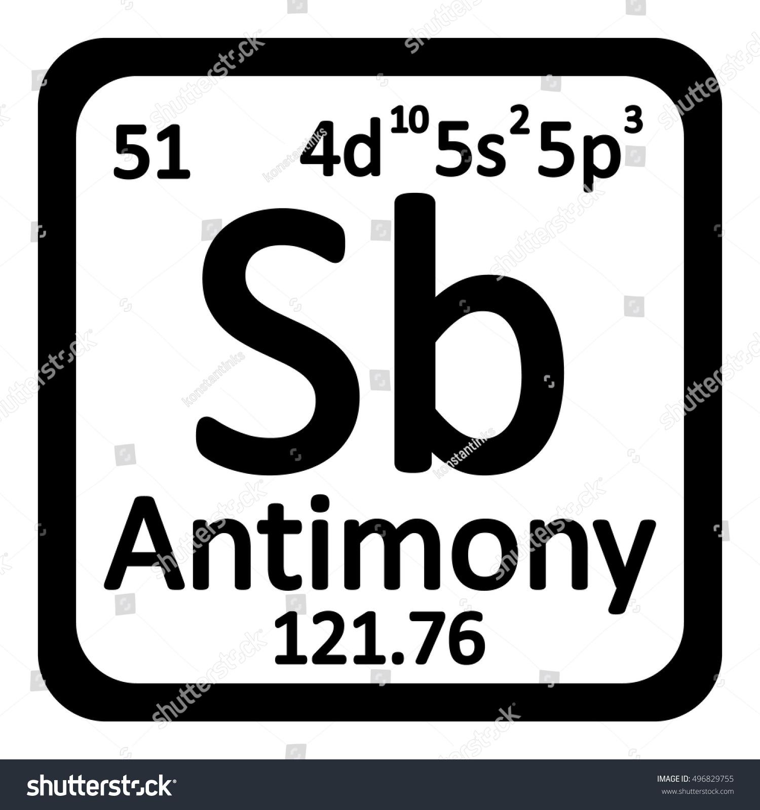 Periodic table element antimony icon on stock vector 496829755 periodic table element antimony icon on white background vector illustration gamestrikefo Choice Image