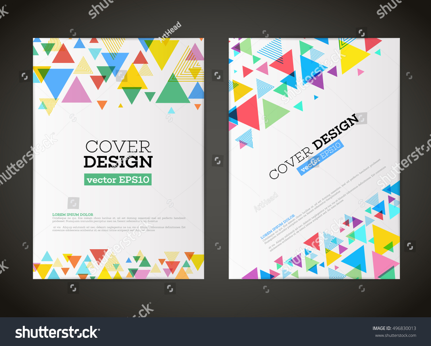 abstract vector triangle design flyer business stock vector royalty