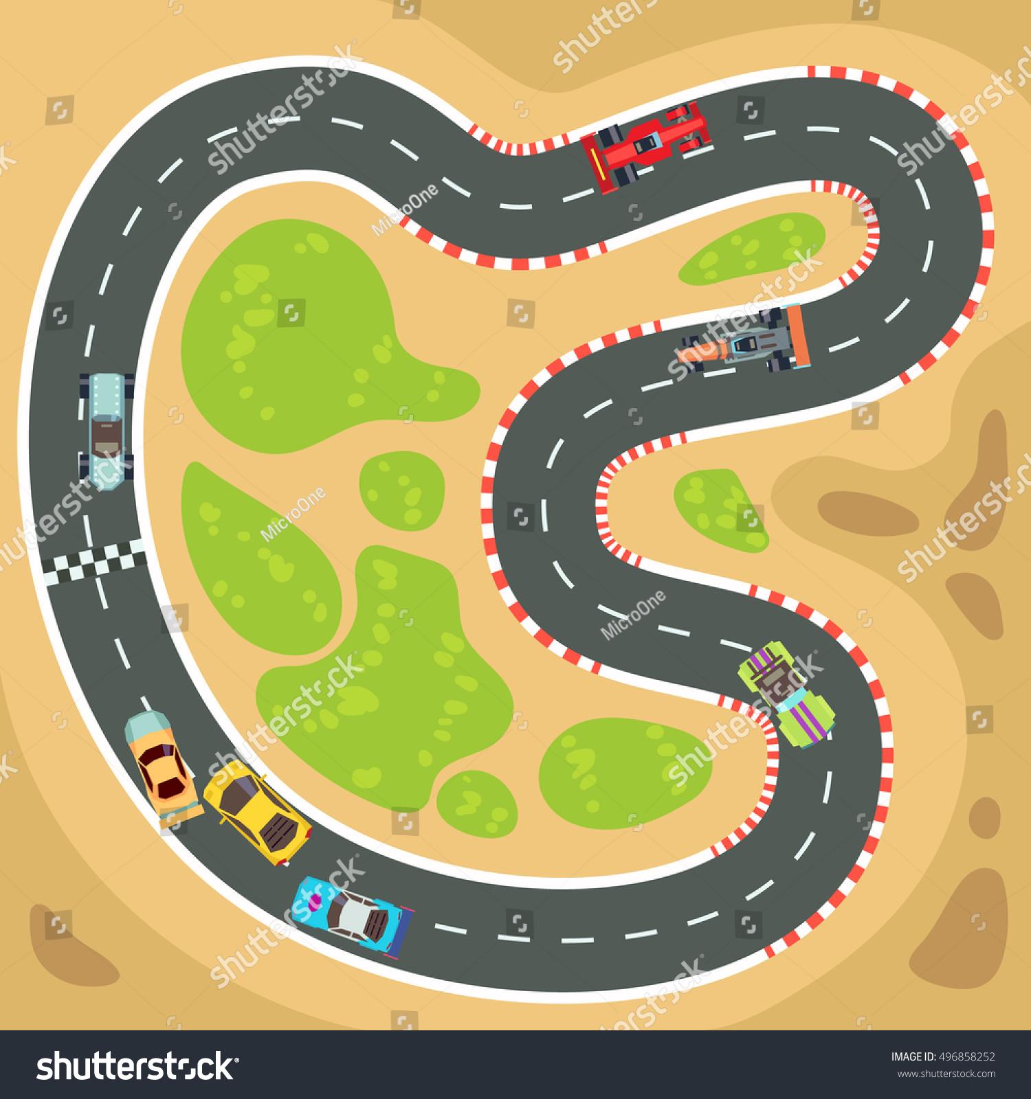 Shutterstock Race Car Track