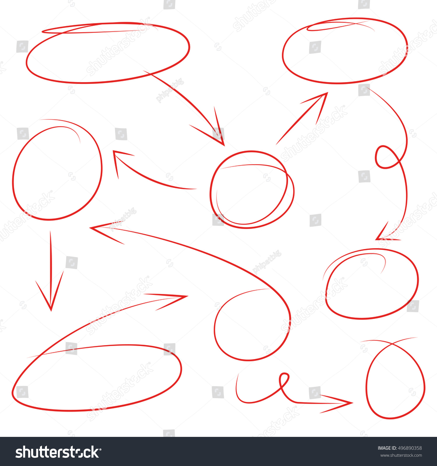 Arrows circles abstract doodle flowchart design stock vector arrows circles and abstract doodle for flowchart design nvjuhfo Gallery