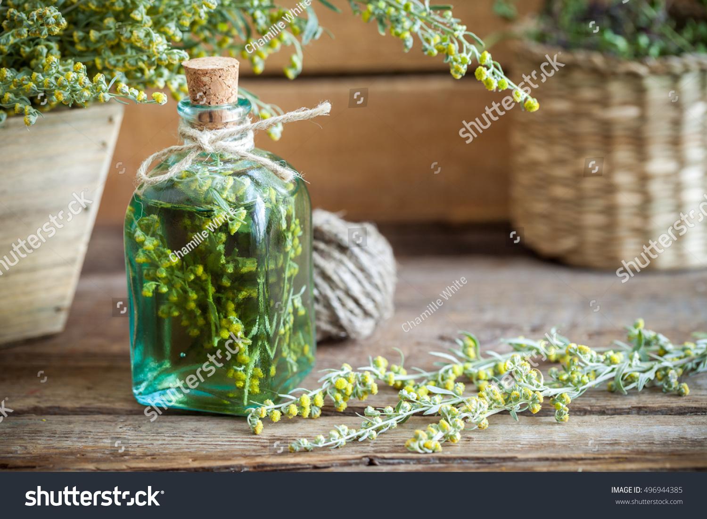 Bottle Absent Tincture Tarragon Absinthe Healing Stock