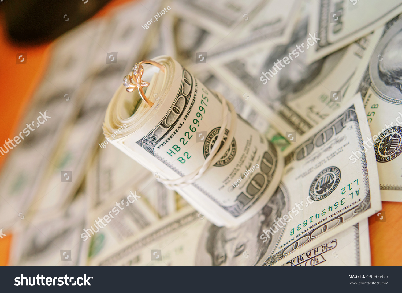 100 Dollar Bills Wedding Ring Stock Shutterstock
