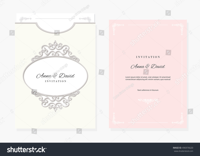 Wedding Invitation Envelope Template Laser Cutting Stock Vector HD ...