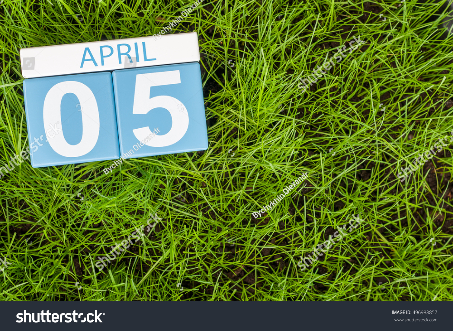 April 5th Day 5 Month Wooden Stock Photo 496988857