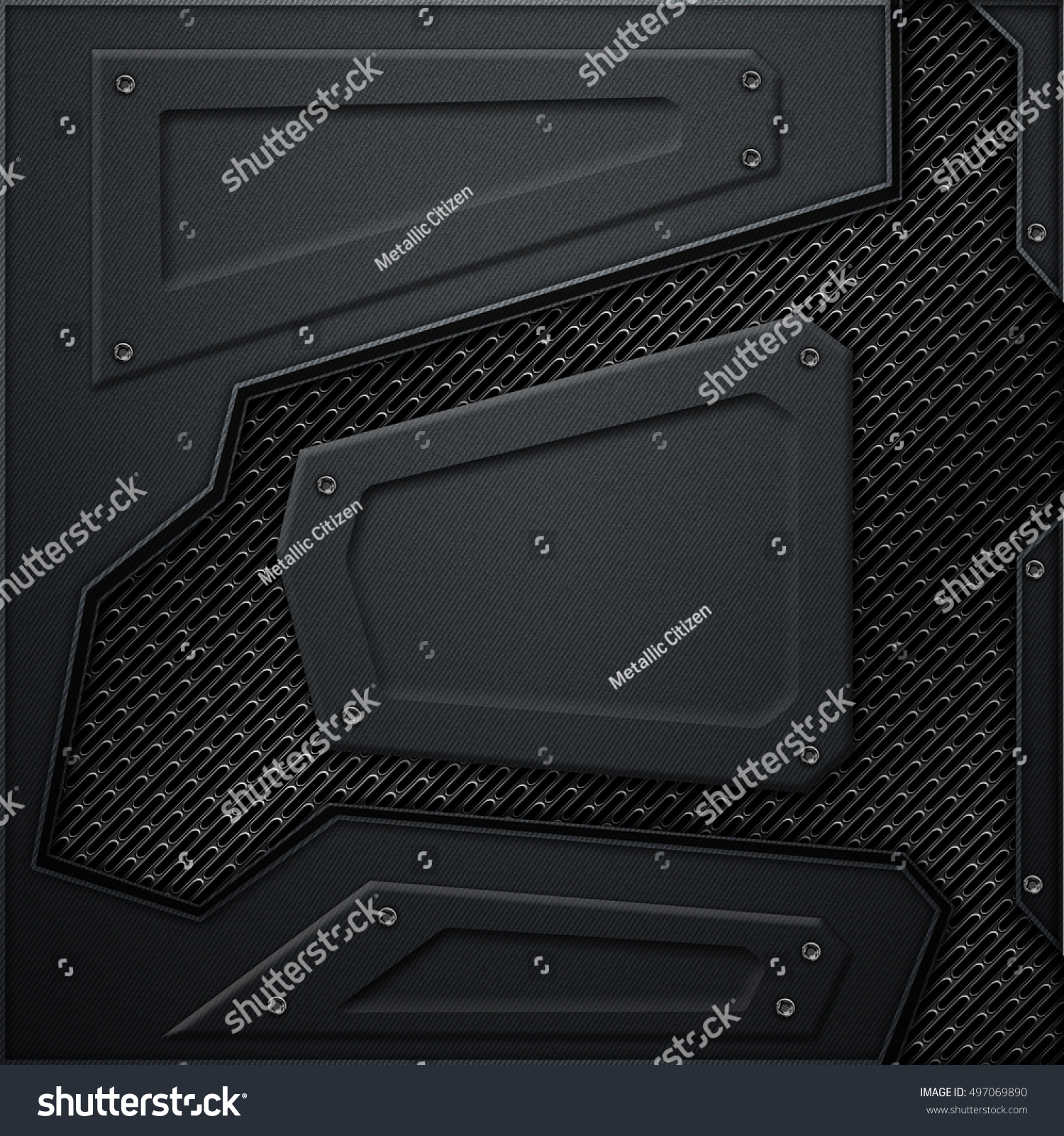 Scifi wall black carbon fiber wall stock illustration for Concept metal