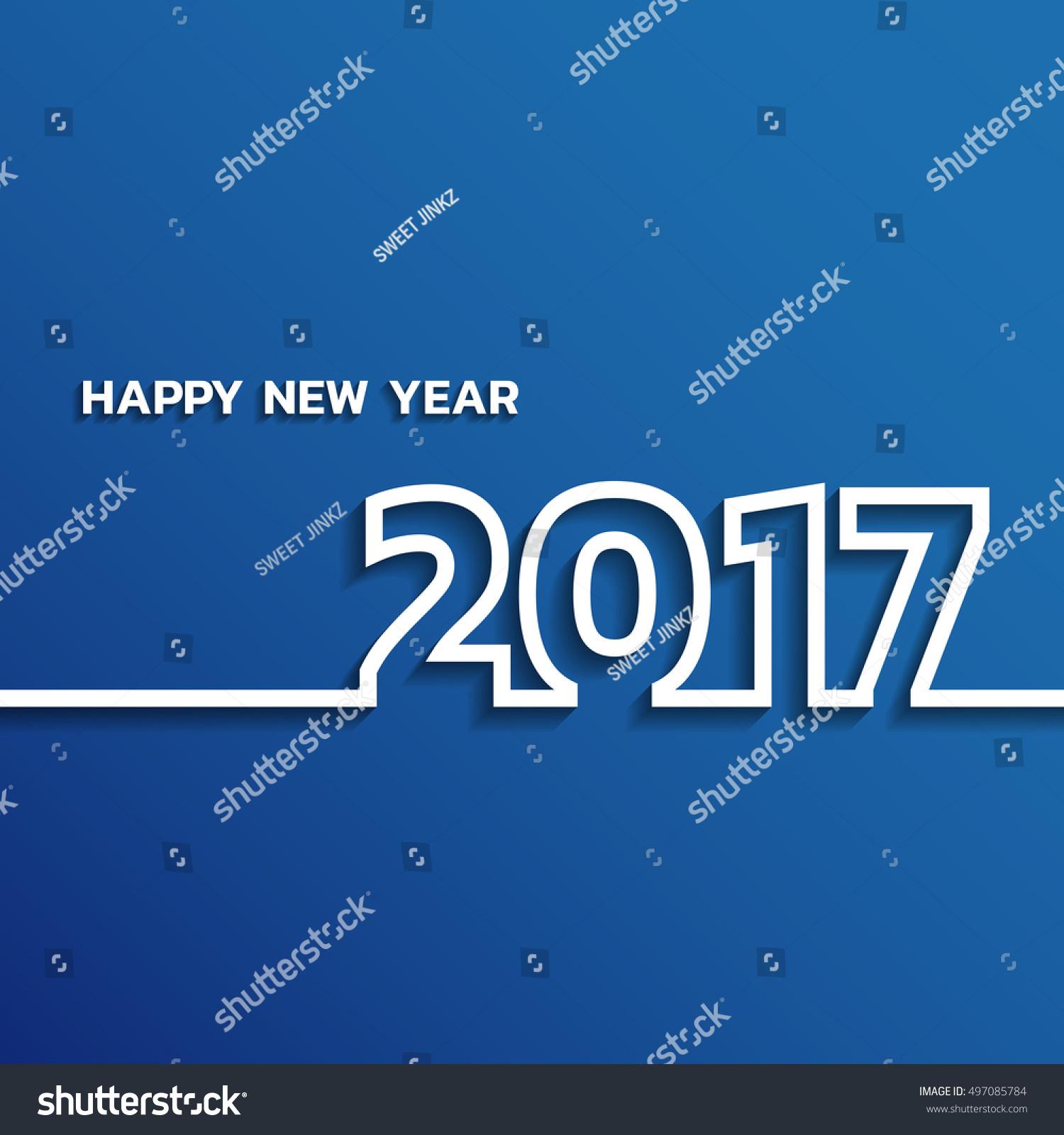 Happy New Year 2017 Vector Background Stock Vector ...