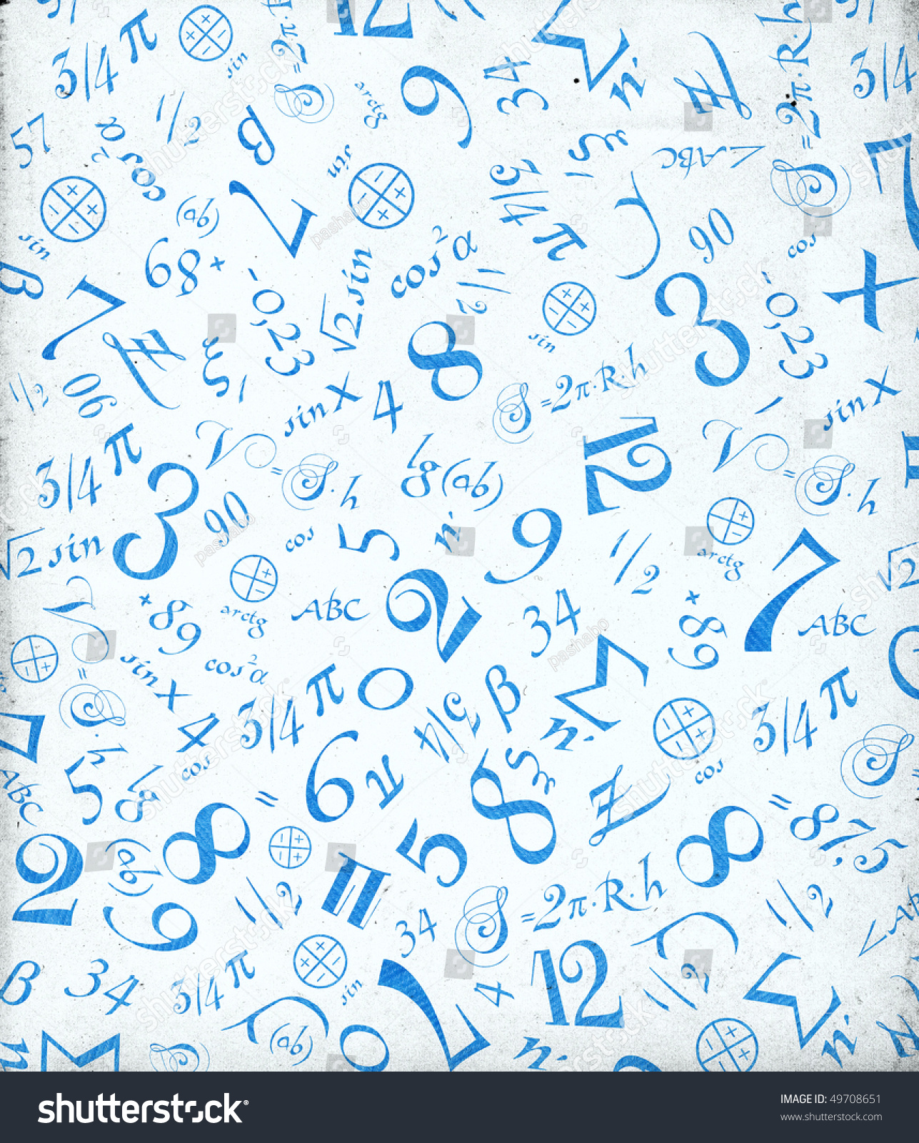 mathematical symbols background stock photo (edit now) 49708651