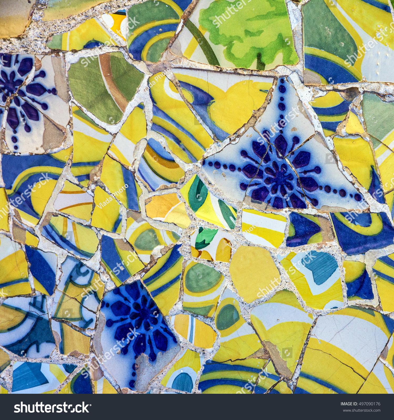 Mosaic Tile Decoration Broken Glass Park Stock Photo (Edit Now ...