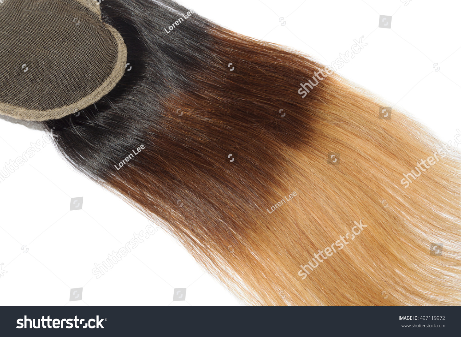Straight Three Tone Ombre Black Brown Stock Photo Edit Now