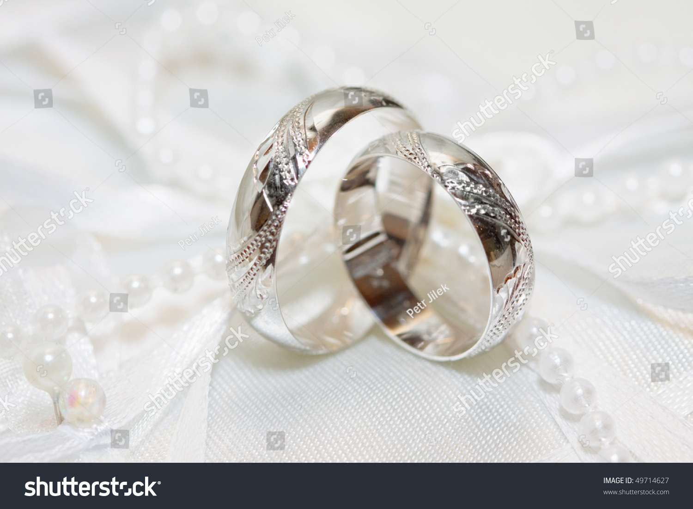 Wedding Detail Beautiful Golden Rings Stock Photo 49714627 ...