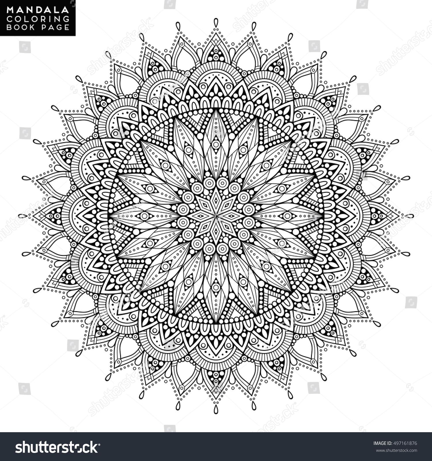 Flower Mandala Vintage Decorative Elements Oriental Stock Vector 497161876