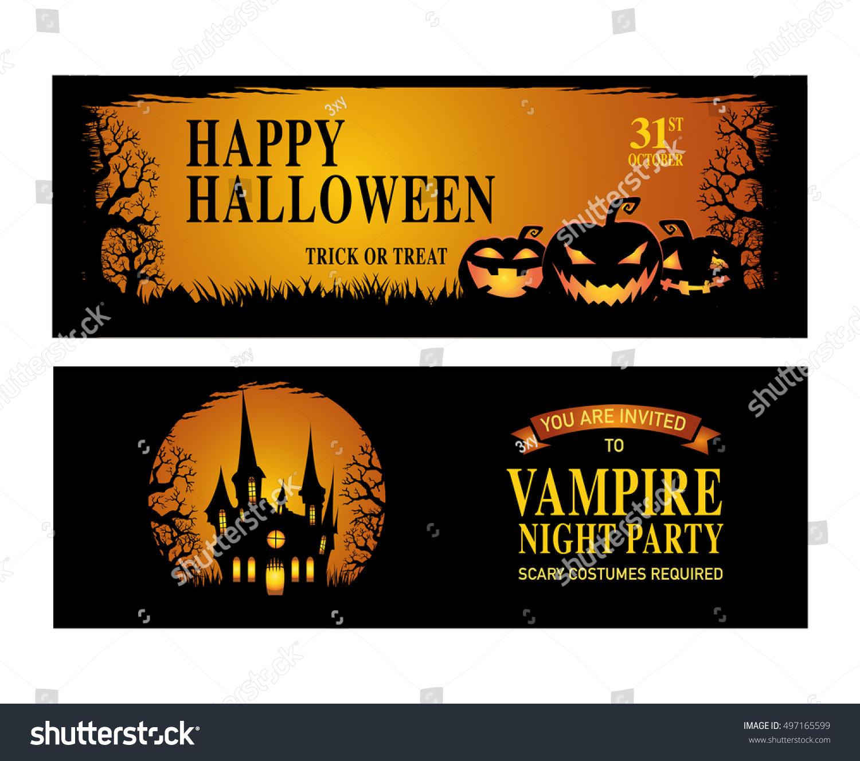 Halloween. Trick Or Treat. Halloween Party. Happy Halloween. Vector  Illustration.