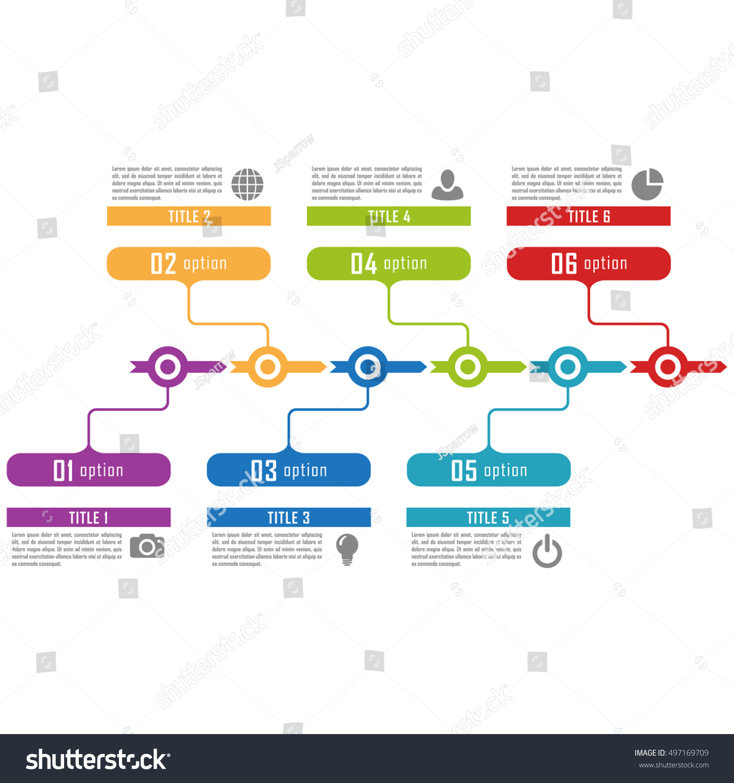 Infographic Timeline Template Can Be Used Stock Vector 497169709 ...