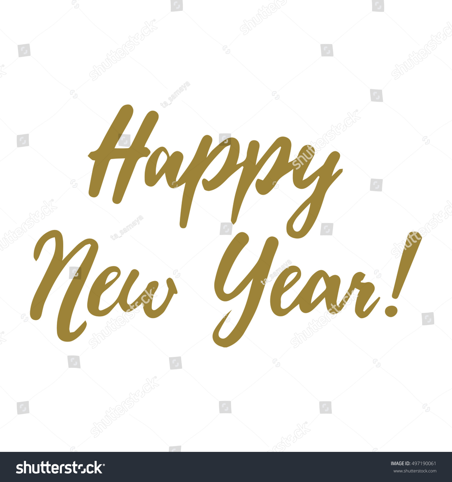 Happy New Year Vector Lettering Hand Stock Vector (Royalty Free ...