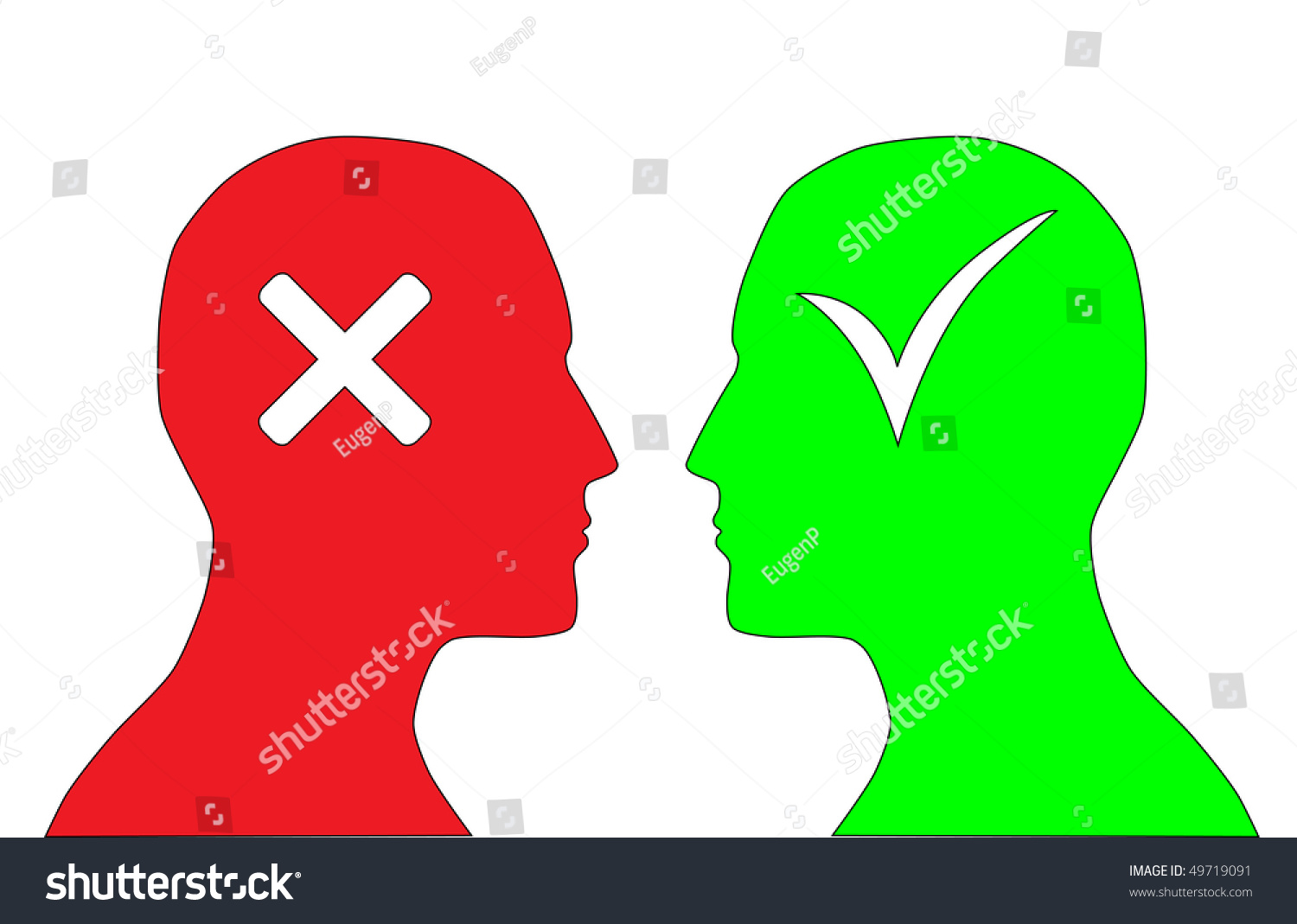 Yes no symbols stock vector 49719091 shutterstock yes and no symbols buycottarizona Gallery