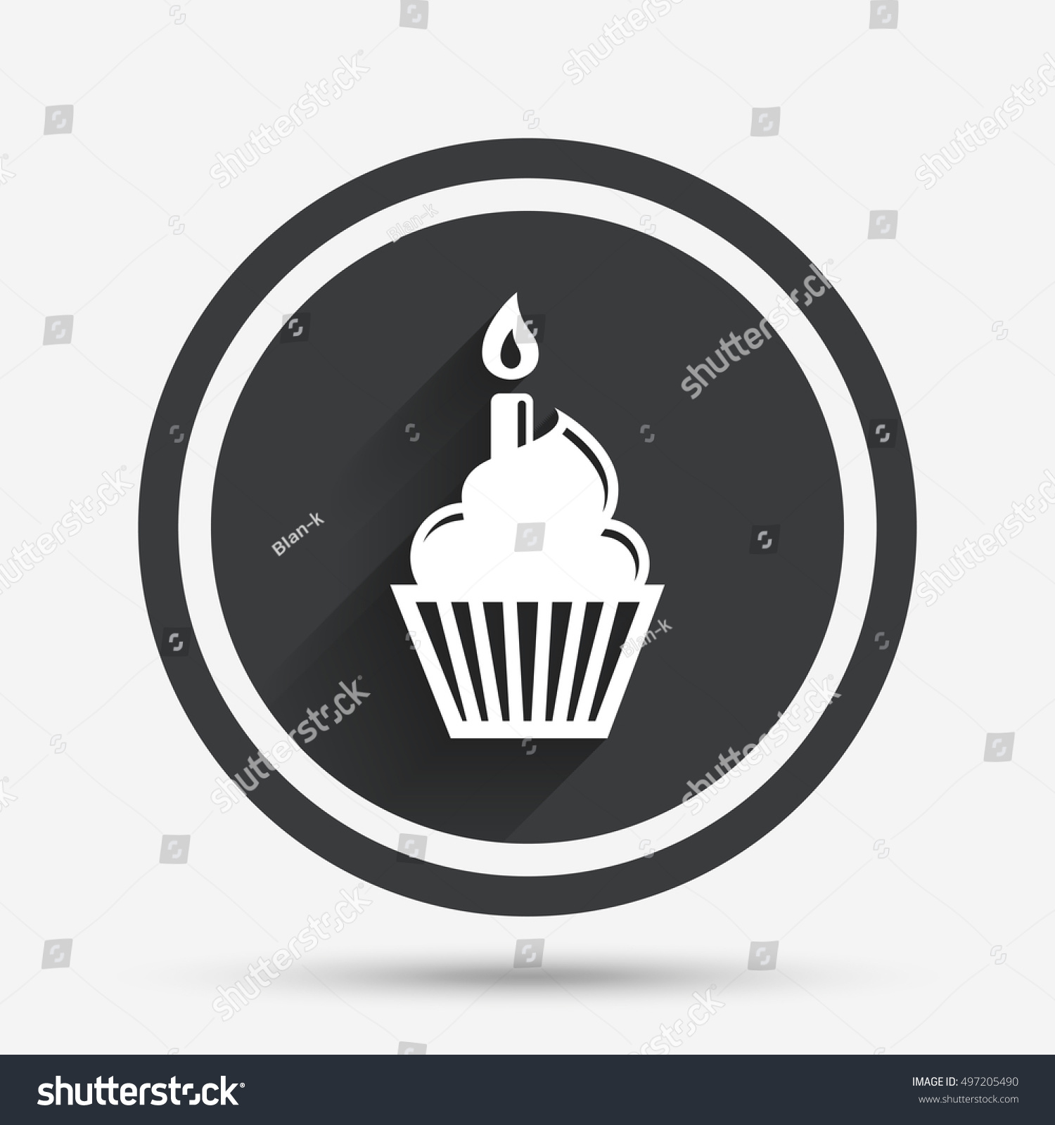 Birthday cake with keyboard symbols image collections symbol and birthday cake sign icon cupcake burning stock vector 497205490 birthday cake sign icon cupcake with burning biocorpaavc