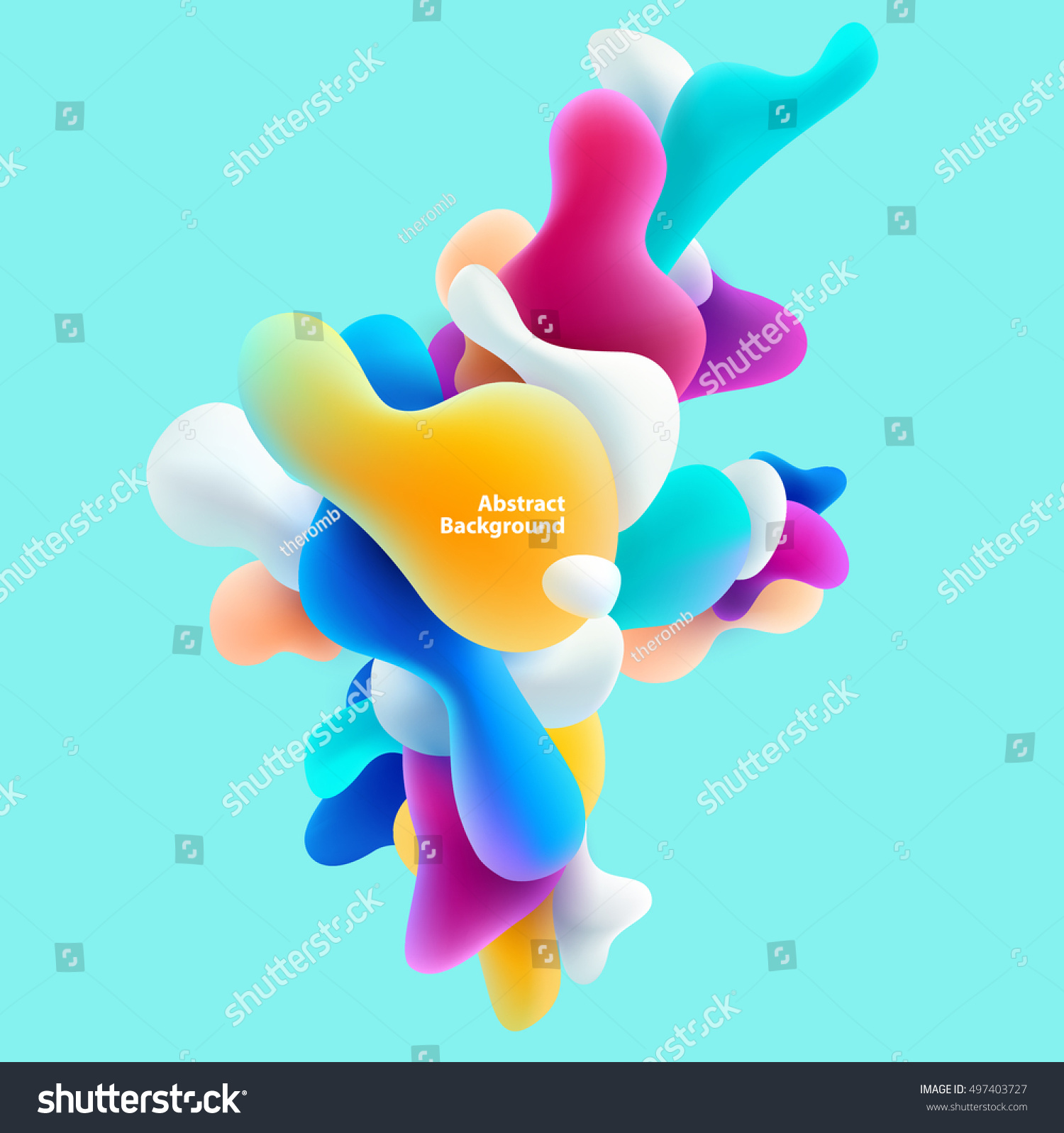 Plastic colorful shapes. Abstract background #497403727