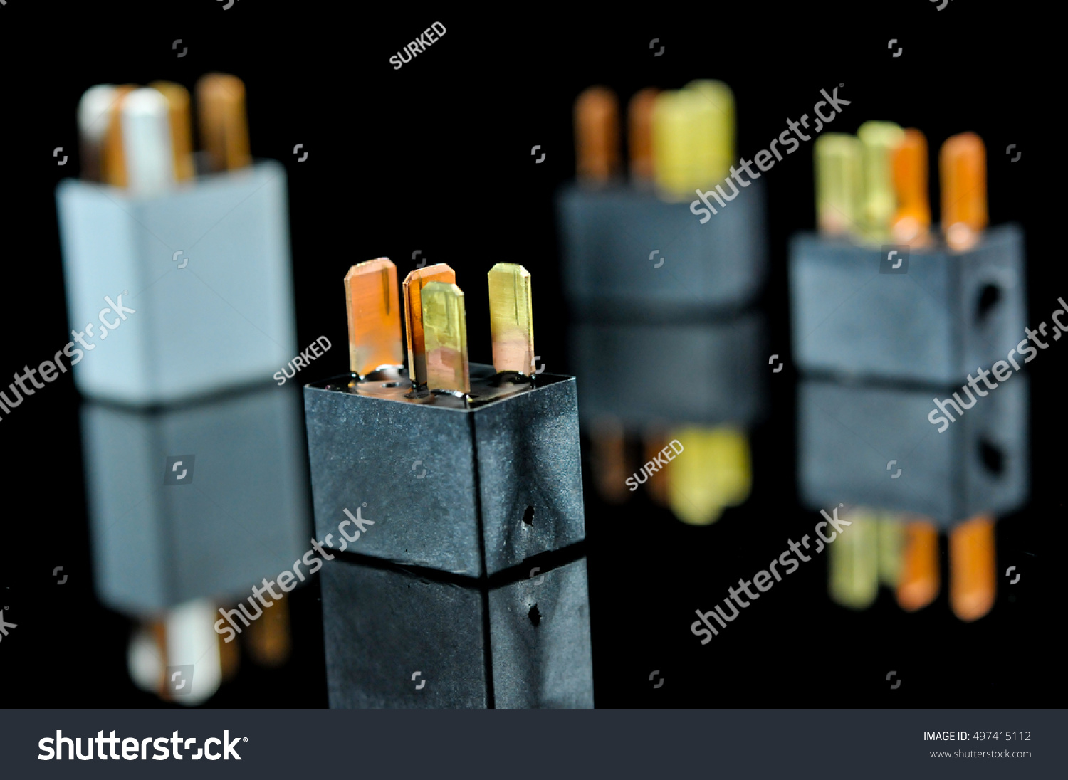 Auto Electronic Collection On Black Background Stock Photo Edit Now Electromagnetic Relay Images Car Switch Automotive Sensor